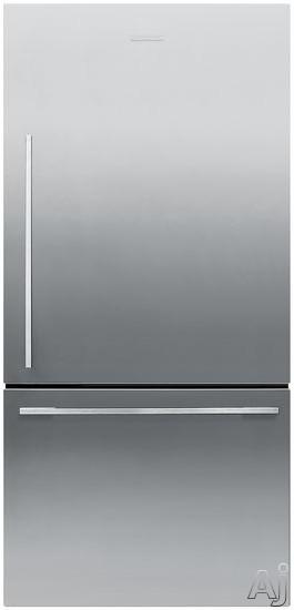Fisher & Paykel Active Smart RF170WDRX4 17 cu. ft. Counter-Depth Bottom-Freezer Refrigerator with, U.S. & Canada RF170WDRX4