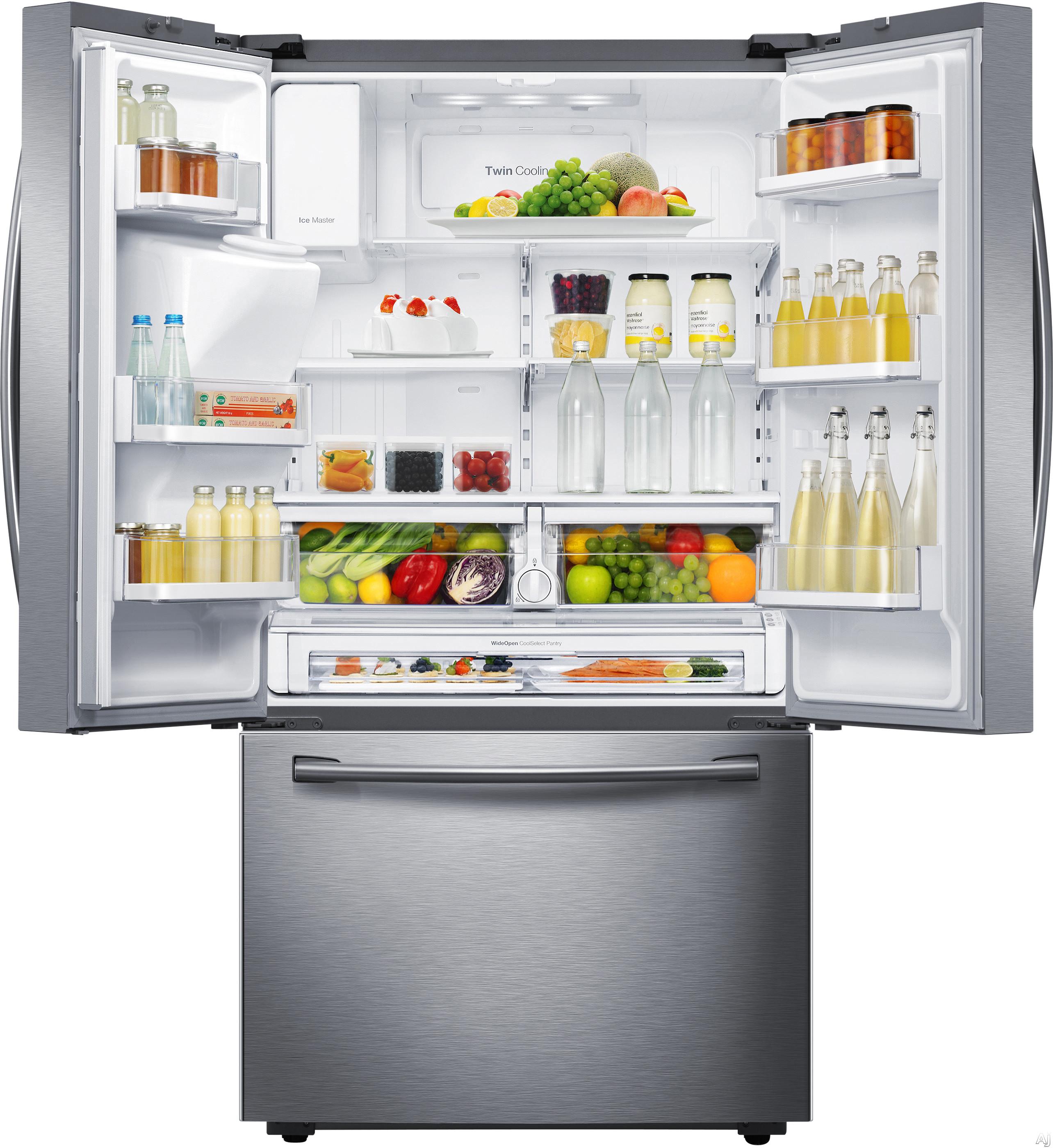 Samsung rf23hcedbsr 22 5 cu ft counter depth french door for 19 5 cu ft french door refrigerator