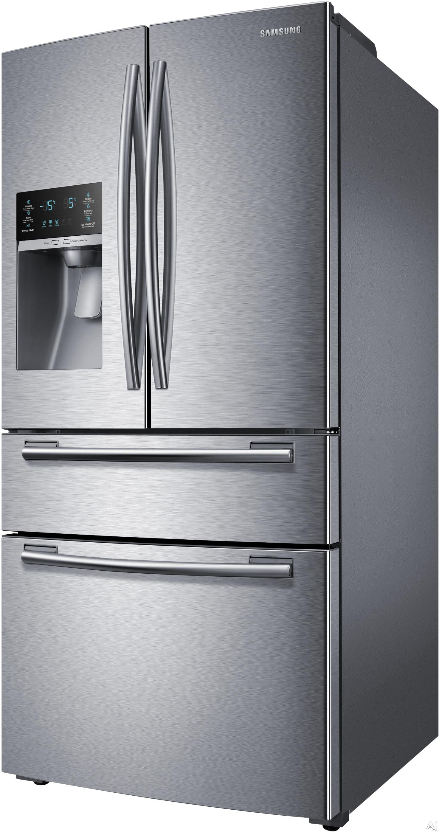 samsung rf25hmedbsr 24 7 cu ft french door refrigerator. Black Bedroom Furniture Sets. Home Design Ideas