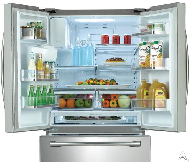 samsung rf263beae 24 6 cu ft french door refrigerator. Black Bedroom Furniture Sets. Home Design Ideas