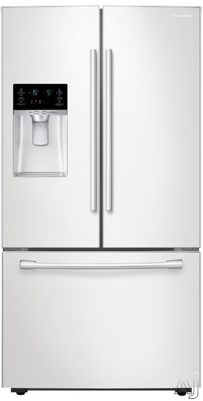 Samsung RF28HFEDBWW 36 Inch French Door Refrigerator with CoolSelect Pantry, Twin Cooling Plus, Ice Master, 28 cu. ft. Capacity, 4 Adjustable Glass Spill-Proof Shelves, LED Lighting, External Water/Ice Dispenser and Energy Star Qualified: White
