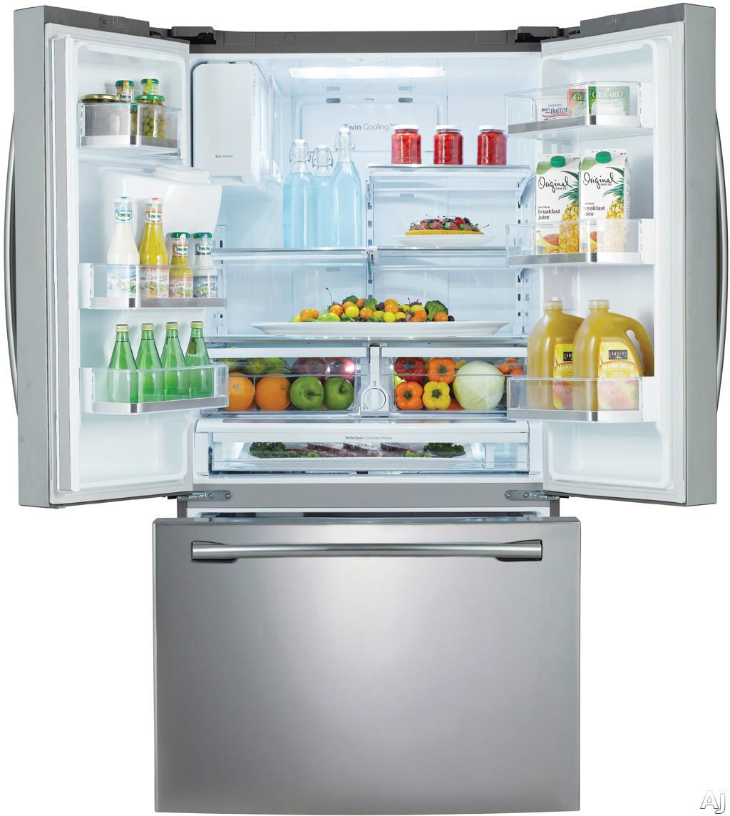samsung rf323tedbsr 30 5 cu ft french door refrigerator. Black Bedroom Furniture Sets. Home Design Ideas