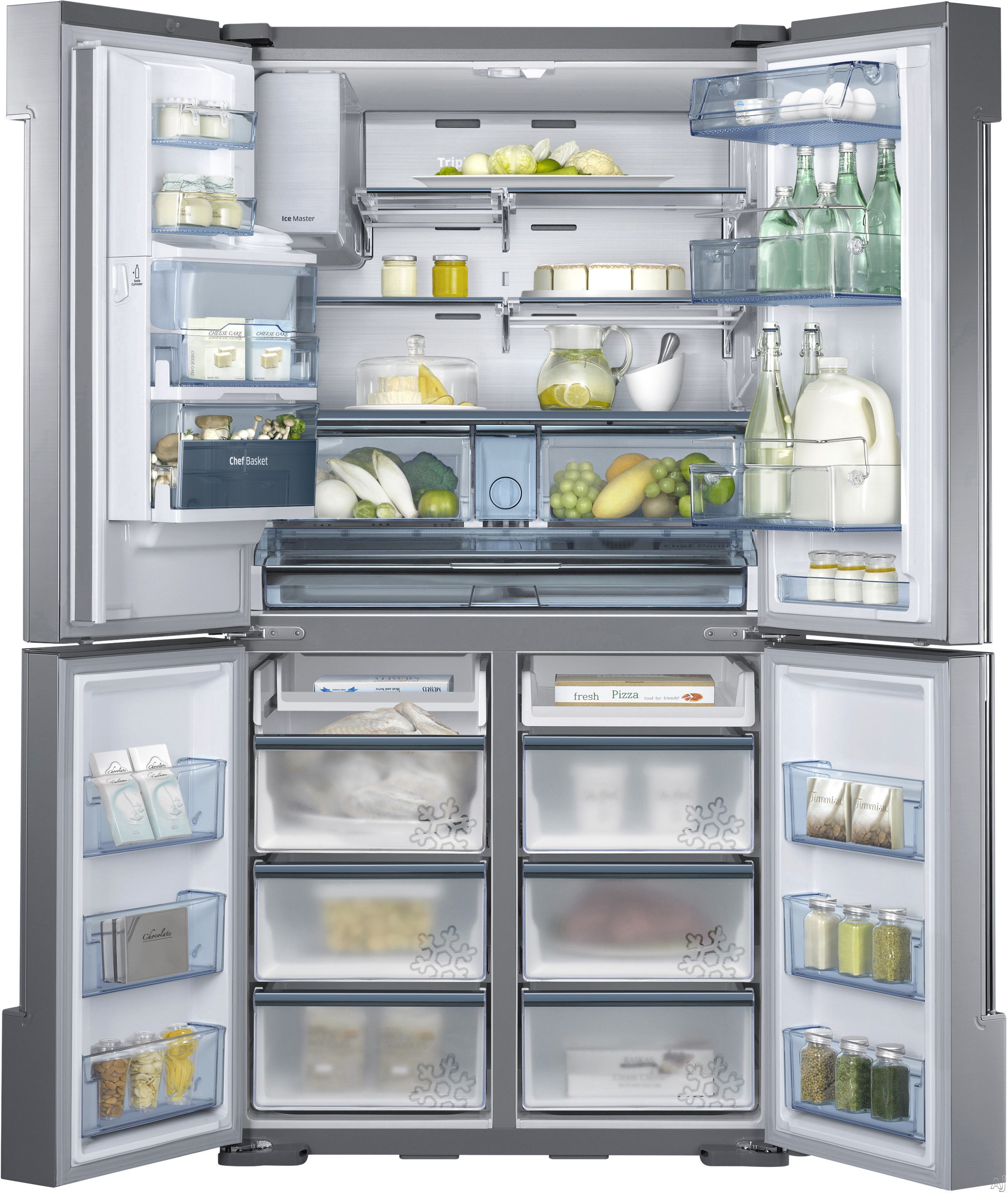 Image disclaimer - Glass door refrigerator freezer ...