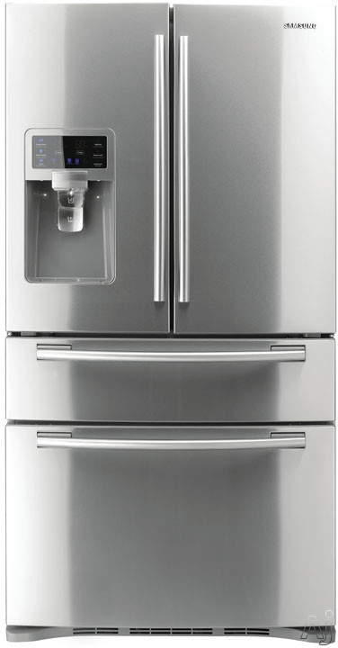 Samsung RF4287HARS 28.0 cu. ft. French Door Refrigerator with 5 Spill Proof Glass Shelves, Twin Cooling Plus System, Surround Air Flow, FlexZone Drawer, Counter