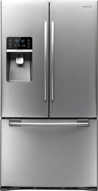 samsung rfg297hdrs 28 5 cu ft french door refrigerator. Black Bedroom Furniture Sets. Home Design Ideas