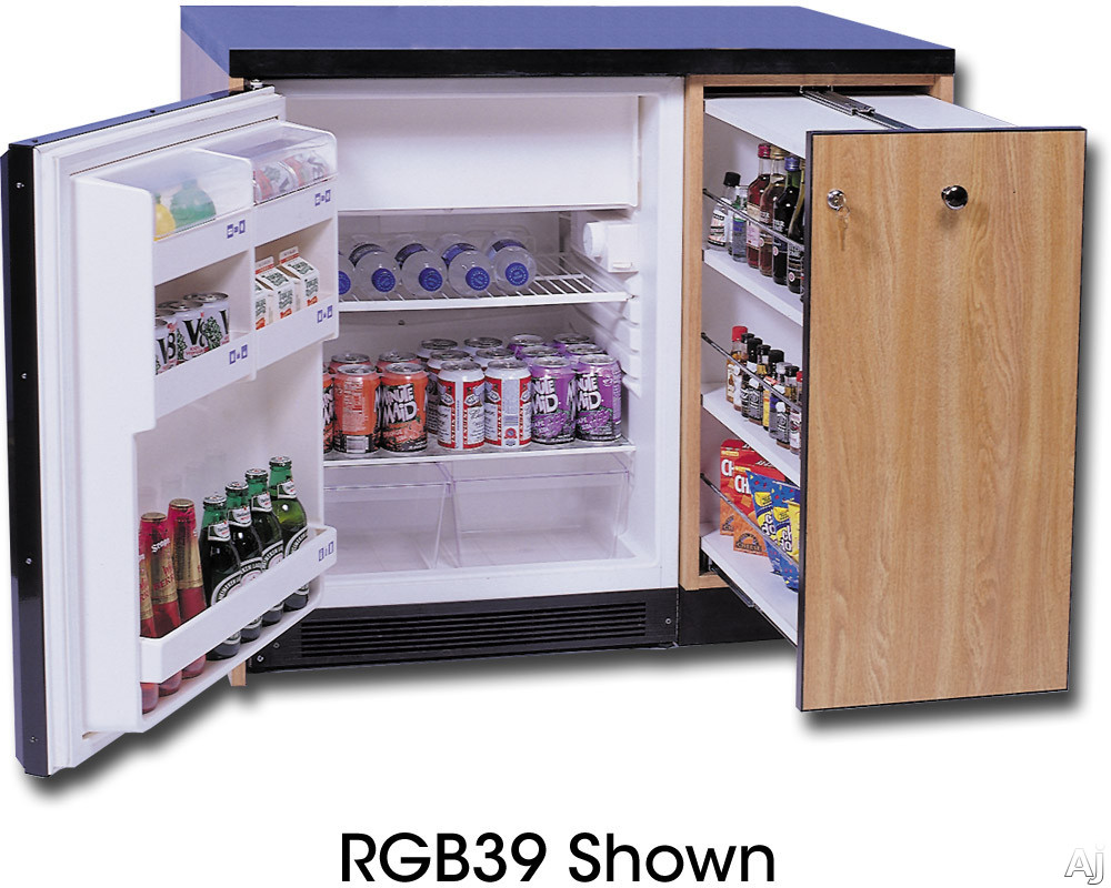 Acme RGB39 Guest Bar with 6.0 cu. ft. Removable Automatic Defrost Refrigerator and Pull-Out Drawer: 39 Inches