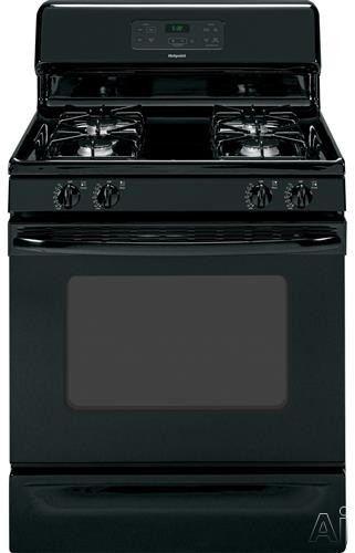Hotpoint RGB530DEHBB 30 Inch Freestanding Gas Range with 4 Sealed Burners, Manual Clean Oven, 2 Oven Racks, Slide-Out Broiler Drawer, Electronic Ignition and Star K Certified