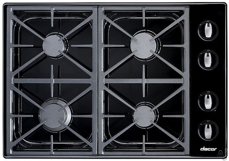"Dacor Renaissance RGC304BLP 30"" Gas Cooktop with 4 Sealed Burners, Automatic Reignition, Illumina, U.S. & Canada RGC304BLP"