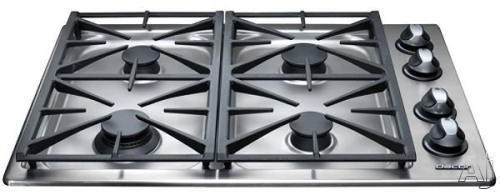 "Dacor Renaissance RGC304SLPH 30"" Gas Cooktop with 4 Sealed Burners, Automatic Reignition, Illumina, U.S. & Canada RGC304SLPH"