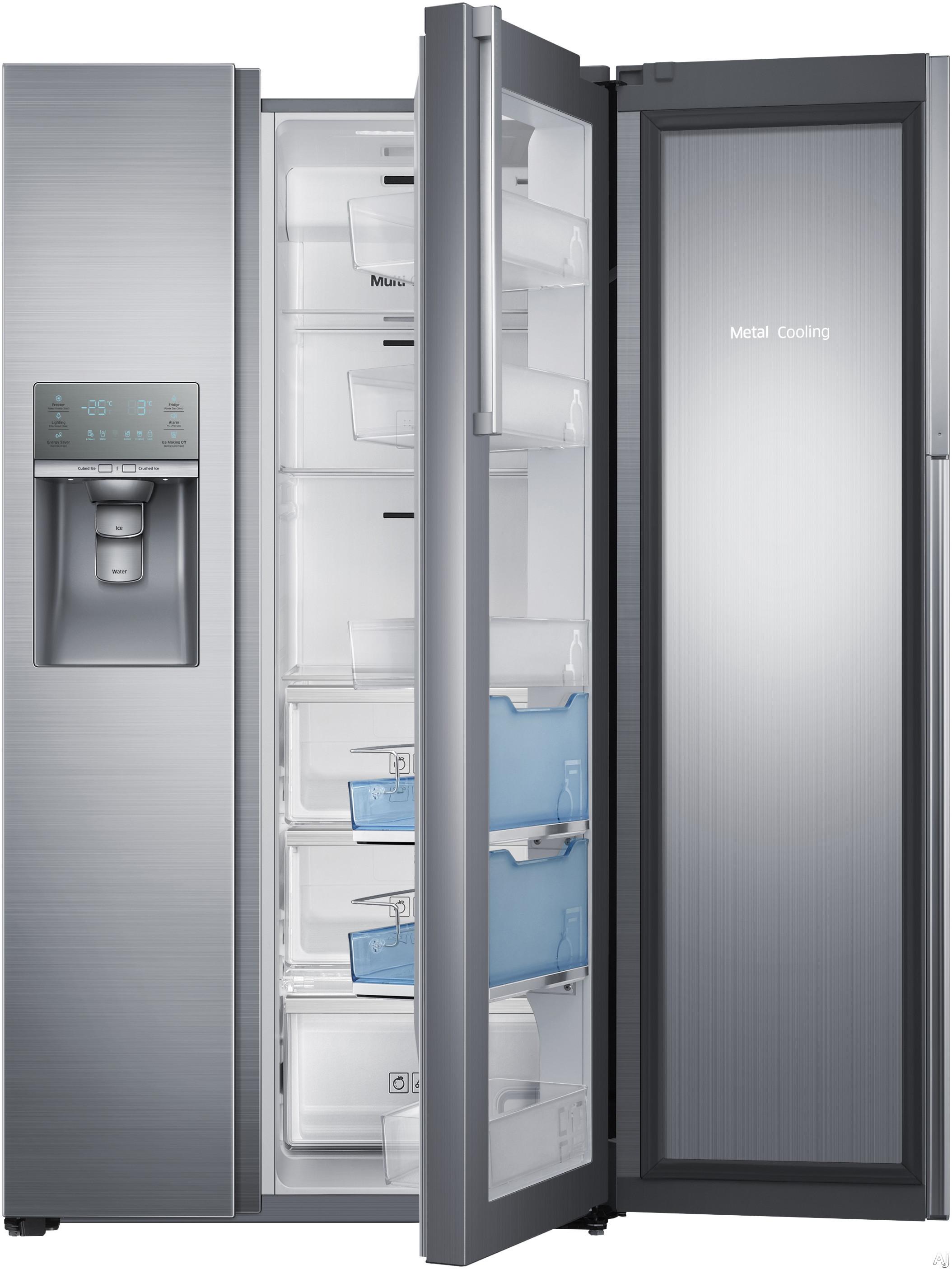 samsung rh22h9010sr 21 5 cu ft counter depth side by side refrigerator with 3 spillproof glass. Black Bedroom Furniture Sets. Home Design Ideas