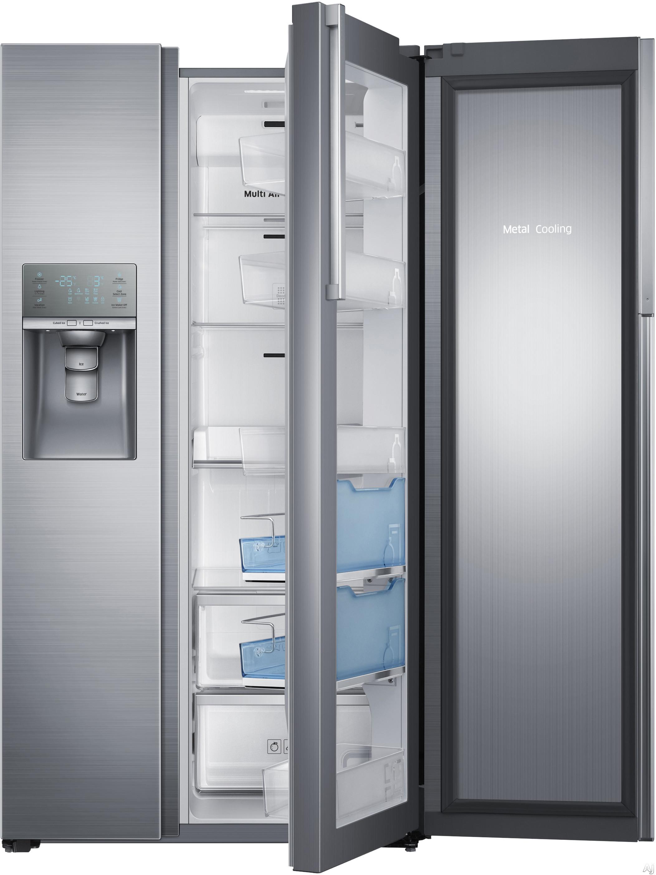 Refrigerator with 4 Tempered Glass Shelves, Food ShowCase Fridge Door ...