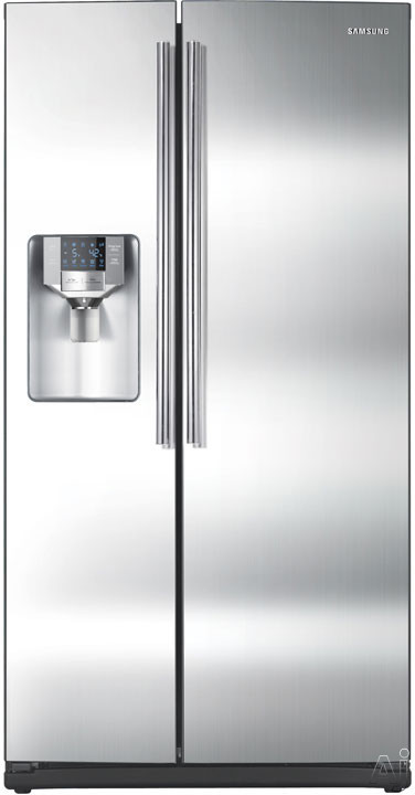 Samsung RS265TDRS 26 cu. ft. Side by Side Refrigerator with 4 Spill Proof Glass Shelves, Twin, U.S. & Canada RS265TDRS