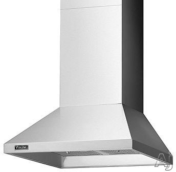 Viking RVCH330X 30 Inch Wall Mount Chimney Range Hood with 460 CFM Internal Blower, Heat Sensor, Halogen Lights, Adjustable Duct Cover and Convertible To Recirculating