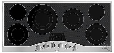 "Viking RVEC3456BSB 45"" Electric Cooktop with 6 QuickCook Surface Elements, Hot Surface Indicator Lights, Glass Ceramic Surface and Metal Die-Cast Knobs"