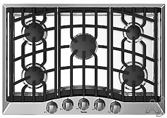 Viking RVGC33015B 30 Inch Gas Cooktop with 5 Permanently Sealed Burners, Aluminum Flame Ports, Cast-Iron Continuous Grates and Automatic Electric Spark Ignition