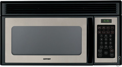 Hotpoint RVM1535 1.5 Cu. Ft. Over the Range Microwave Oven with 950 Cooking Watts and Instant On, U.S. & Canada RVM1535