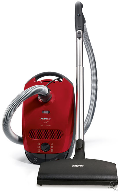 Miele S2 Series S2181TITAN Titan Canister Vacuum Cleaner with 1200-Watt Vortex Motor, Active HEPA Filter, 4.76 Quart AirClean Dustbag, 6-Stage Suction Rotary Di