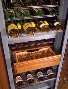Humidrawer Cigar Storage Compartment