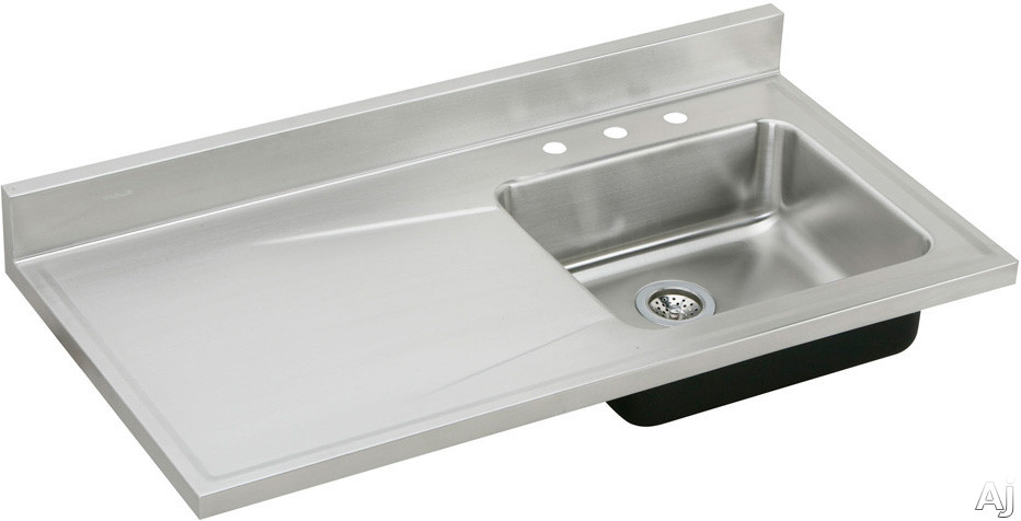 Elkay S4819r4 48 Quot Single Bowl Stainless Steel Sink Top