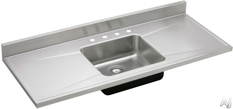 elkay s72194 72 single bowl stainless steel sink top with