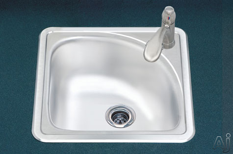 Features Of Corner Bar Sink:  Corner Bar Sink.  Hospitality Collection.   Stainless Steel.  1 Faucet Hole.  Topmount.  Premium Grade T 304 Stainless  Steel.