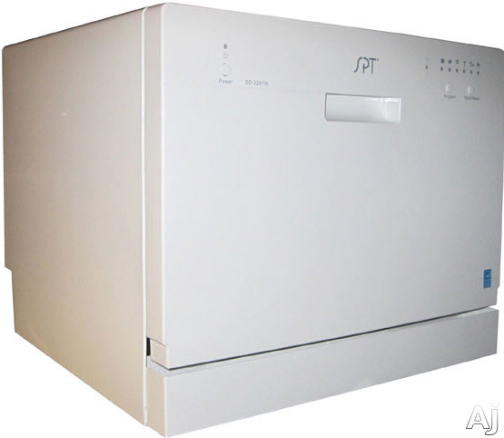 Sunpentown SD2201 Full Console Countertop Dishwasher with 6 Place ...