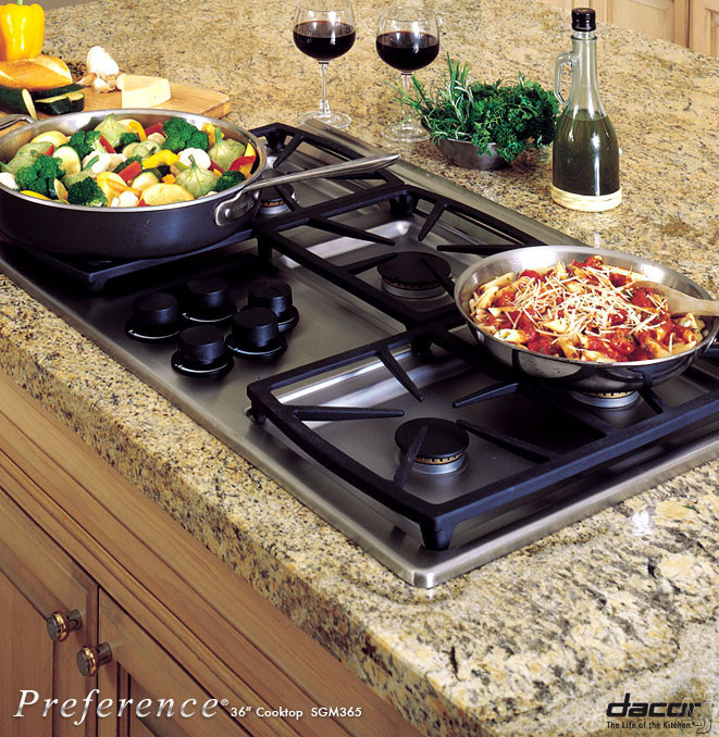 "Dacor Classic SGM365 36"" Gas Cooktop with 5 Sealed Burners, Instant Re-Ignition, Blue ""On"" Indicator, U.S. & Canada SGM365"