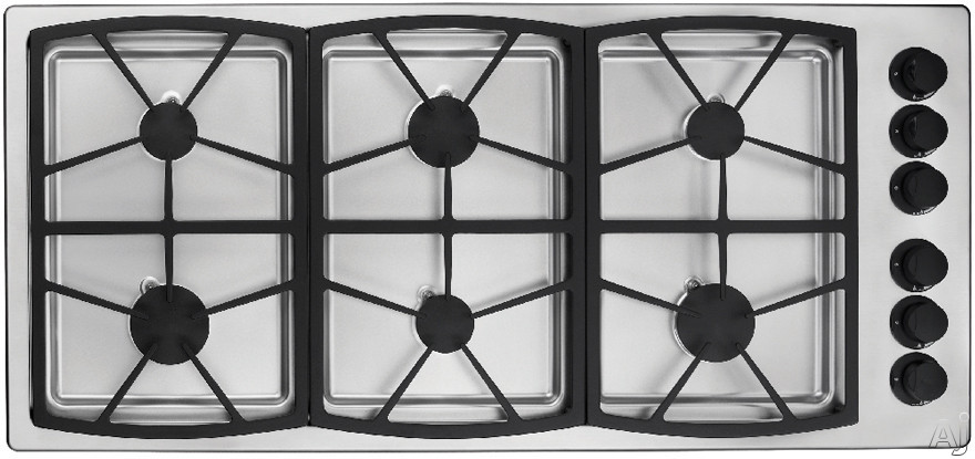 "Dacor Classic SGM466 46"" Gas Cooktop with 6 Sealed Burners, Three 13"" Platform Grates and Smart, U.S. & Canada SGM466"