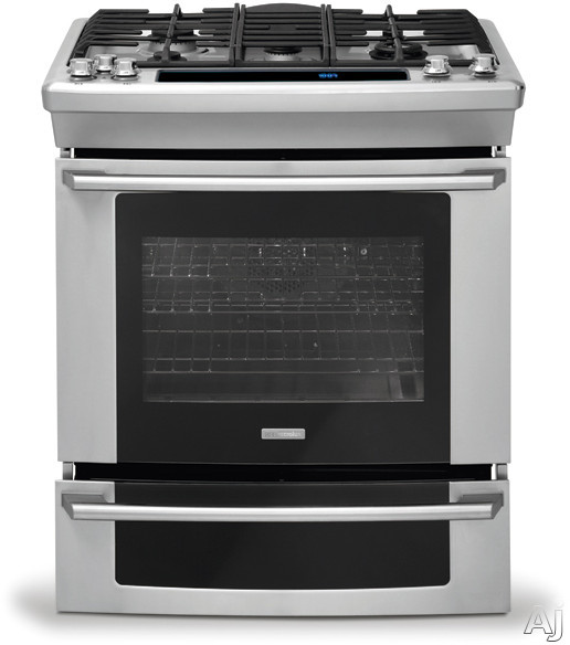 "Electrolux Wave-Touch Series EW30GS75KS 30"" Slide-in Gas Range with 5 Sealed Burners, 4.2 cu. ft., U.S. & Canada EW30GS75KS"