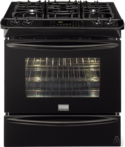 "Frigidaire Gallery Series FGGS3065KB 30"" Slide-in Gas Range with 4 Sealed Burners, 4.2 cu. ft. True, U.S. & Canada FGGS3065KB"