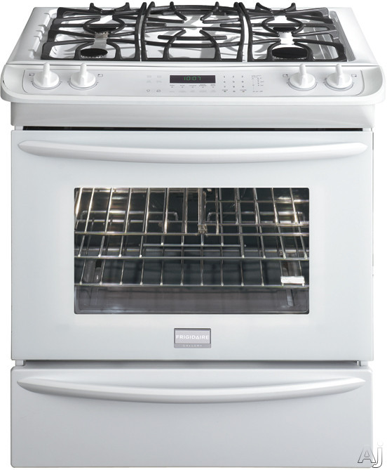 "Frigidaire Gallery Series FGGS3065KW 30"" Slide-in Gas Range with 4 Sealed Burners, 4.2 cu. ft. True, U.S. & Canada FGGS3065KW"