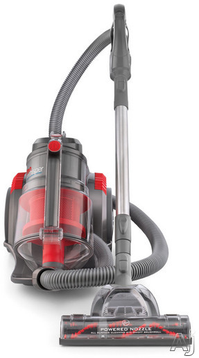 Hoover SH40080 Bagless Canister Vacuum Cleaner with Motorized Nozzle, Multi-Cyclonic Technology, U.S. & Canada SH40080