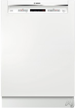 Bosch 300 DLX Series SHE53TL2UC Full Console Dishwasher with 15 Place Setting Capacity, 4 Wash, U.S. & Canada SHE53TL2UC