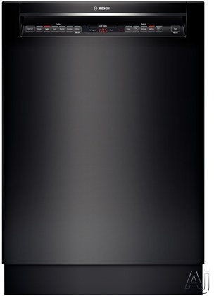 Bosch 800 Series SHE68T56UC Full Console Dishwasher with 16 Place Setting Capacity, Load Size Sensor, Sanitize Option, Express Wash, RackMatic, Detergent Tray, AquaStop Leak Protection, Touch Control Technology and Energy Star Rated: Black