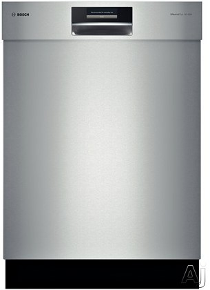 Bosch Benchmark Series SHE9PT55UC Semi-Integrated Dishwasher with Flexible 3rd Rack, AquaStop ® Plus, RackMatic ®, SteelTouchâ ¢, ActiveTabâ ¢ Tray, 15 Place Setting Capacity, 6 Wash Cycles, 5 Options, Interior Light, 39 dBA Silence Rat