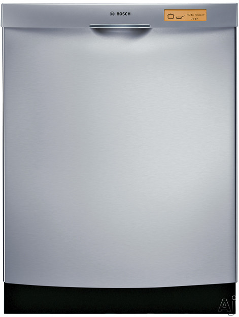 Bosch Dishwashers - Bosch Evolution 800 Series SHE98M05UC Semi-Integrated Dishwasher With 9 Wash Cycles Platinum Premium Racks APEXX Wash 24 Hours Delay Start And Silence Rating