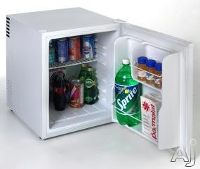 Avanti SHP1700W 1.7 cu. ft. Compact Refrigerator with Adjustable Shelves, Tall Bottle Rack, Superconductor Technology, Interior Light and Reversible Door: White