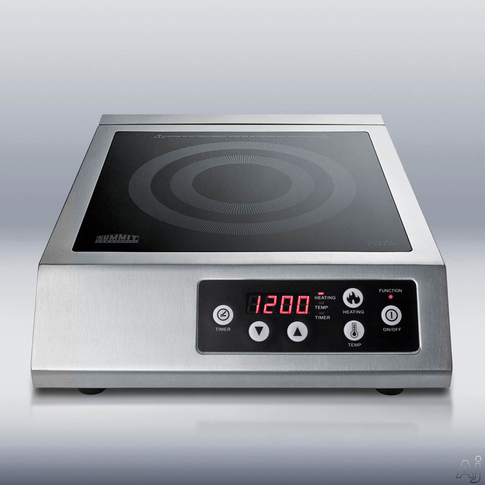 "Summit SINCCOM1 13"" Portable Induction Cooktop with 1 Cooking Zone, Multiple Power Levels, Automatic, U.S. & Canada SINCCOM1"