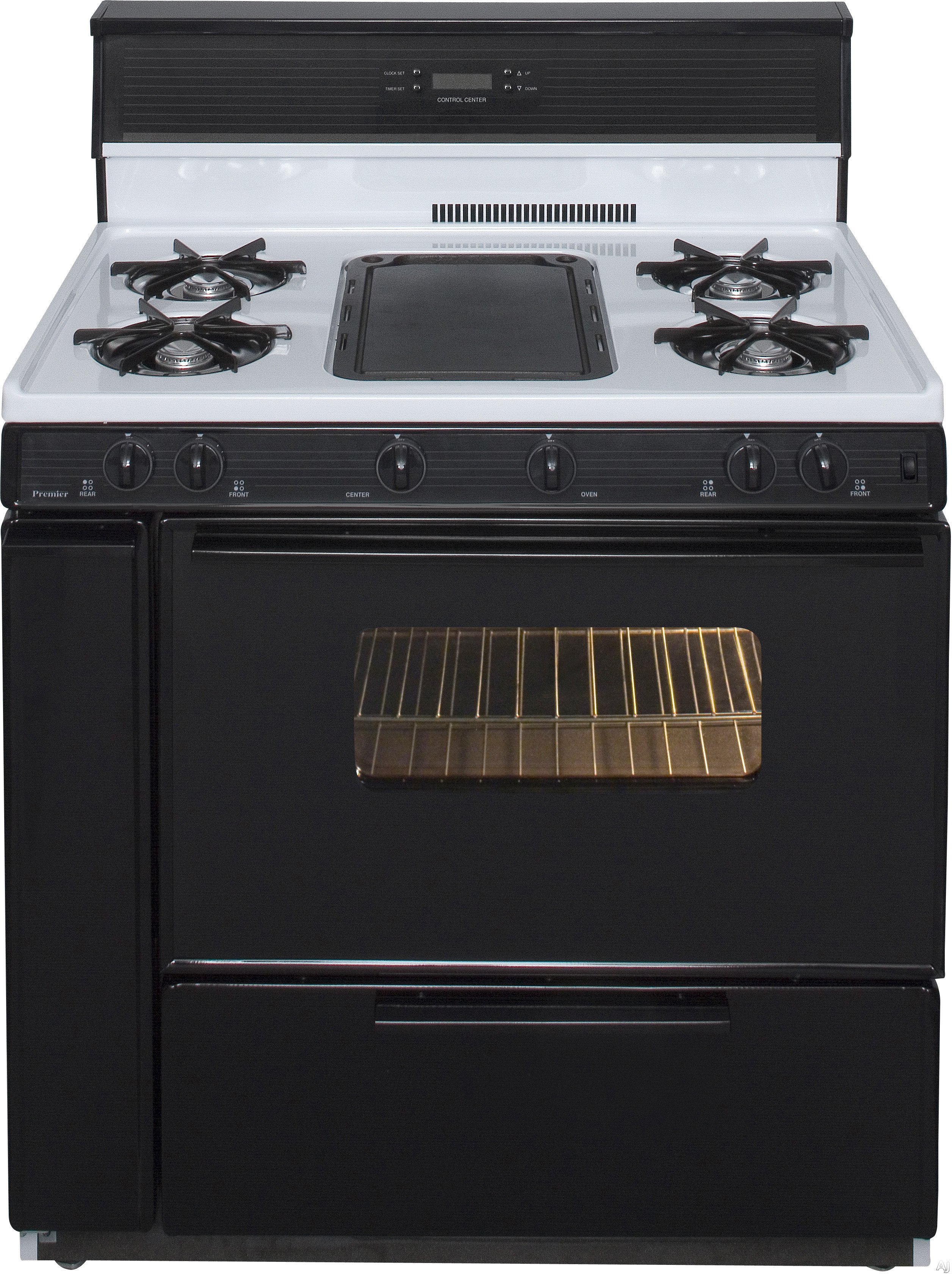 Premier slk849wp 36 freestanding gas range with 5 open for 17000 btu window air conditioner