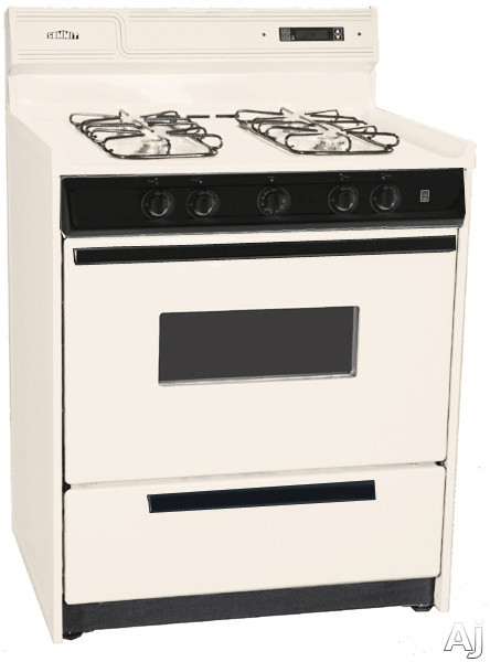 """Summit SNM2307CKW 30"""" Freestanding Gas Range with Manual Clean, Oven Window, Electronic Ignition and, U.S. & Canada SNM2307CKW"""