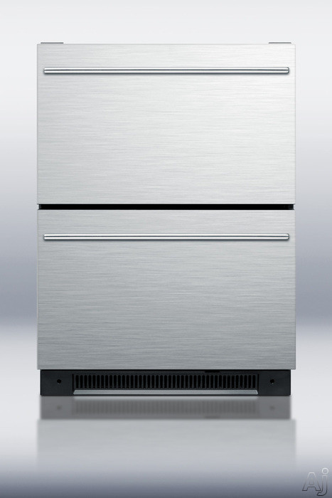 "Summit SP5DS2D 24"" Built-in Drawer Refrigerator with 5.4 cu. ft. Capacity, Digital Thermostat, LED, U.S. & Canada SP5DS2D"