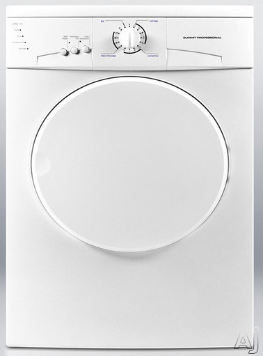 """click for Full Info on this Summit Professional Series SPDE1113 24"""" Electric Dryer with 3 Temperature Options  Timer  Auto Dry  Removable Lint Trap  Stainless Steel Drum and 220V Operation"""