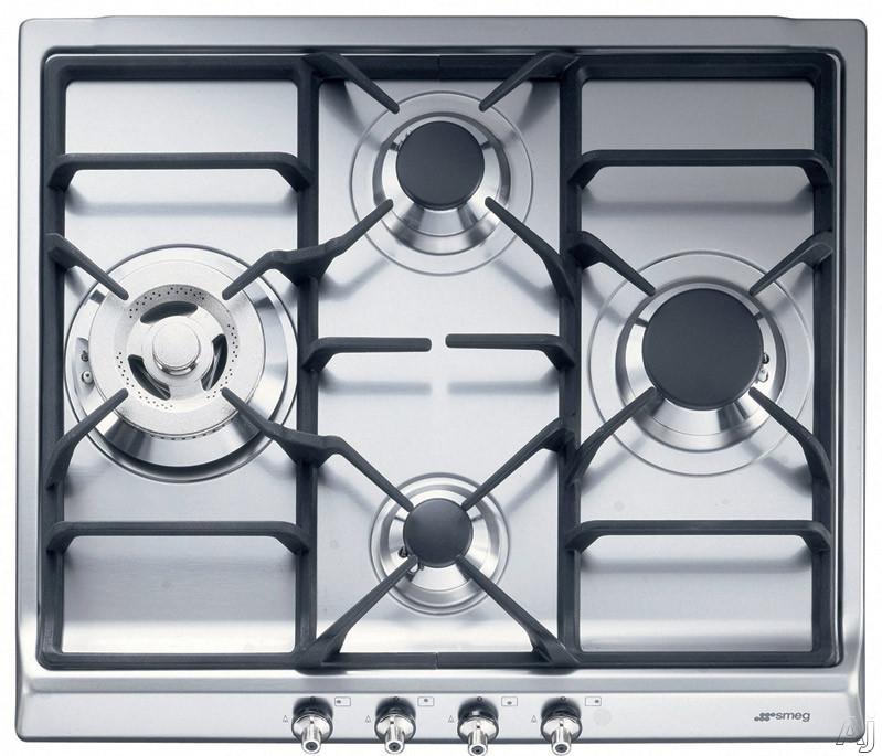 smeg sr60ghu3 24 inch gas cooktop with 4 sealed burners. Black Bedroom Furniture Sets. Home Design Ideas