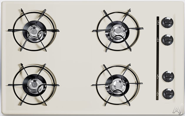 """Summit STL05P 30"""" Gas Cooktop with 4 Open Burners, Porcelain Enameled Steel Grates, Recessed Top, U.S. & Canada STL05P"""
