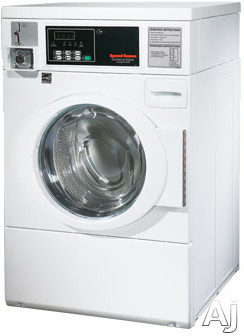 "Speed Queen SFNBCF 27"" Coin Operated Commercial Front-Load Washer with 2.84 cu. ft. Capacity, 3 Wash, U.S. & Canada SFNBCF"