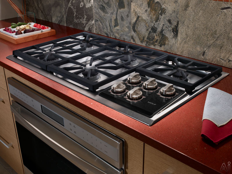 Wolf Ct36gslp 36 Gas Cooktop With 5 Dual Stacked Sealed