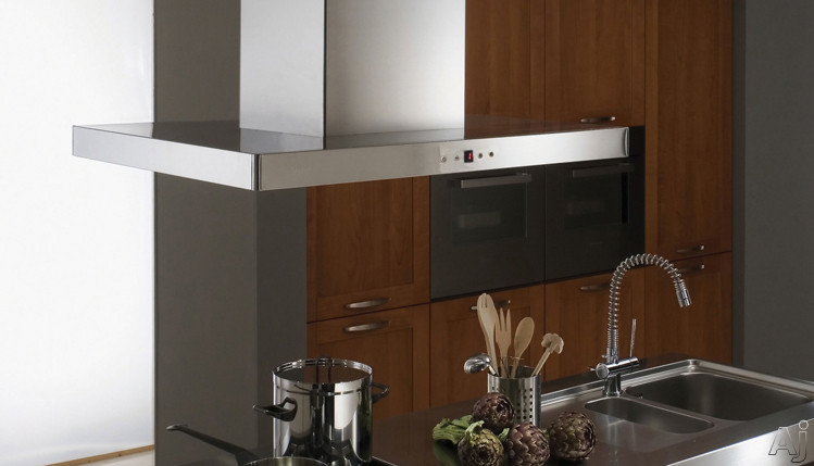 Faber Designer Collection STILIS48SS Stilo Isola Island Chimney Hood with 600 CFM Internal PRO, U.S. & Canada STILIS48SS