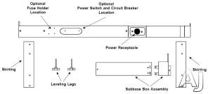 Amana PTSB430E 265 Volt Subbase Kit, 30 Amp, U.S. & Canada PTSB430E