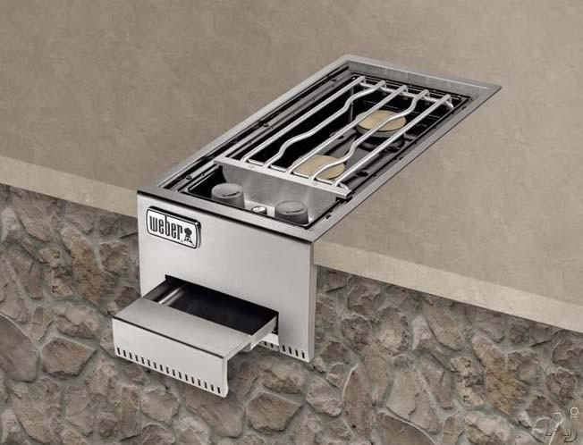 Weber Summit 83004 Built-in Dual Side Burner with Two 12,000 BTU-per-hour Input Burners, Electronic, U.S. & Canada 83004