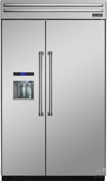"Thermador T48BD820NS 48"" Built-in Side by Side Refrigerator with Fully Filtered External Ice and, U.S. & Canada T48BD820NS"